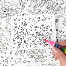 Load image into Gallery viewer, Kids' Colour-In Postcard Set