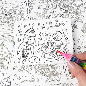 Kids' Colour-In Postcard Set