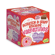 Load image into Gallery viewer, Scratch & Sniff Valentines Treats Sticker Box