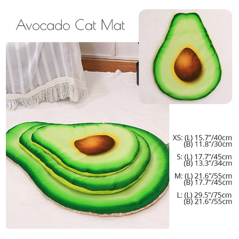 things for cats, washable fun cat beds, cat sleeping mats, unique cat bed, cosy cat bed, cat mat bed. adorable cute cat bed, kitten bed, cool best things for cats, cat things to buy, avocado cat bed,