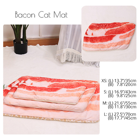 things for cats, washable fun cat beds, cat sleeping mats, unique cat bed, cosy cat bed, cat mat bed. adorable cute cat bed, kitten bed, cool best things for cats, cat things to buy, bacon cat sleeping bed,