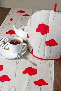 LINEN TABLE RUNNER POPPY