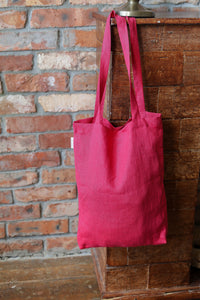 LINEN TOTE BAG IN GRENADINE