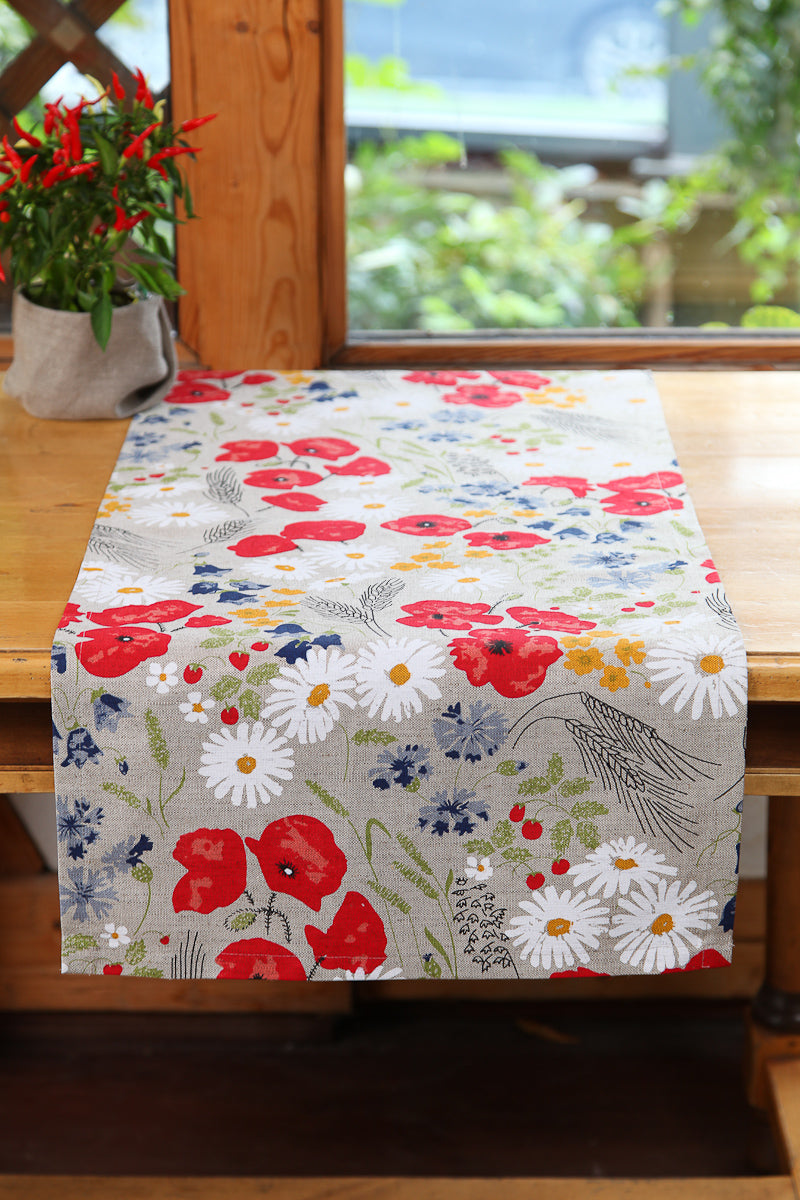 LINEN TABLE RUNNER MEADOW