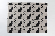 Load image into Gallery viewer, LINEN PLACEMAT BLACK CAT