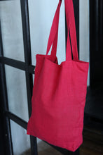 Load image into Gallery viewer, LINEN TOTE BAG IN GRENADINE