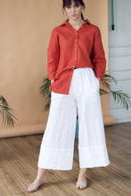 Load image into Gallery viewer, LINEN CULOTTES IN WHITE