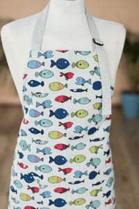 LINEN APRON CUTE FISH