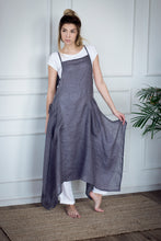 Load image into Gallery viewer, LINEN APRON DRESS IN GREY