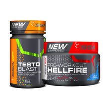 Load image into Gallery viewer, SSA Hellfire Pre-workout 120g PLUS SSA Testo-Blast 60s FREE