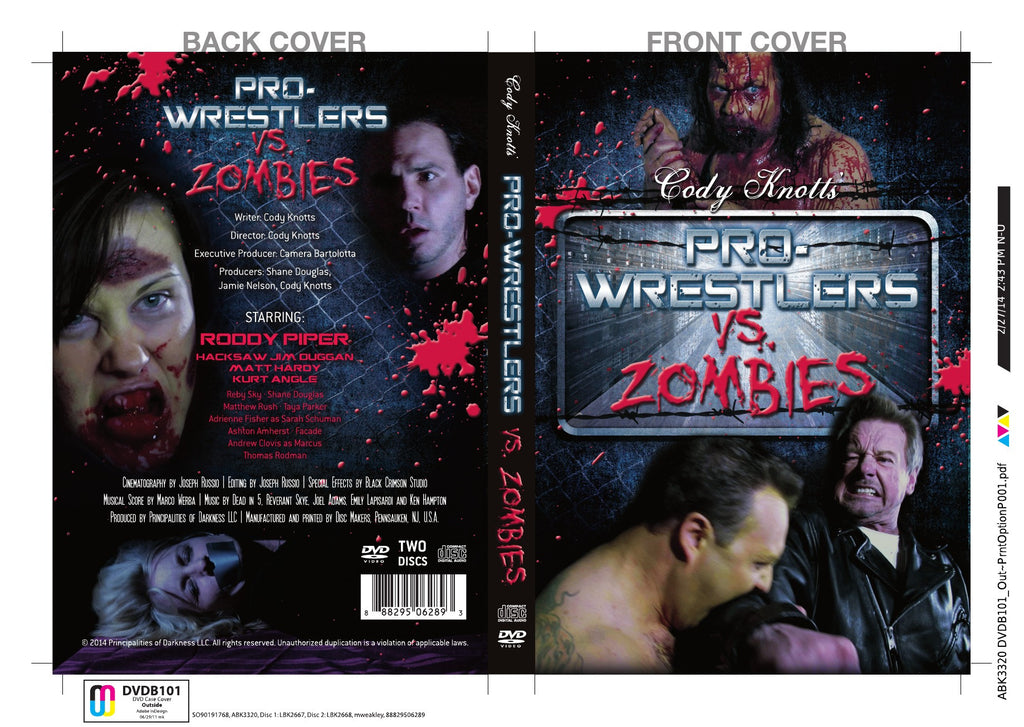Autographed Limited Edition Pro Wrestlers vs. Zombies DVD and Soundtrack