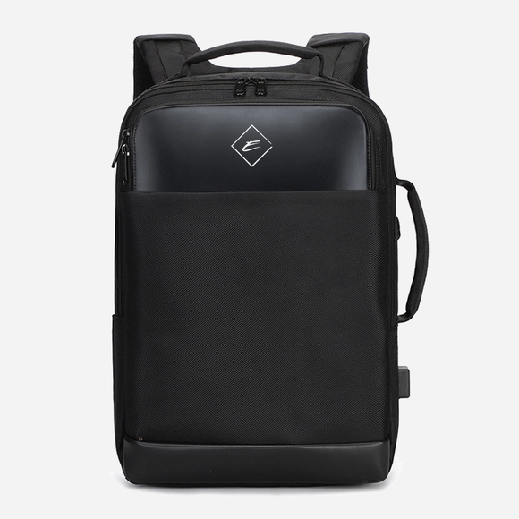 Epic travel business style laptop backpack.  Black color with a three compartments to keep your work organized.