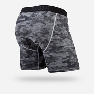 The Hero Knit Boxer Brief has three mesh panels that provide optimal air flow during your sweatiest pursuits. Quick-dry moisture wicking fabric keeps you fresh. MyPakage Pouch Technology™ keeps your boys supported. Featuring a light compression fit and a vented sport waistband, this 6.5 inch style is our coolest Boxer yet.