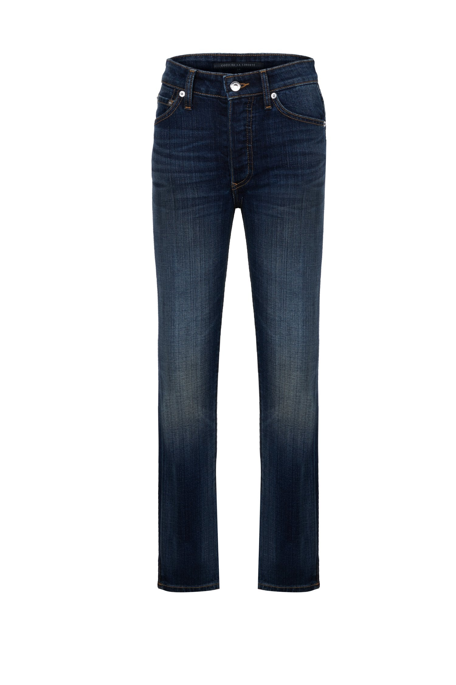 High Rise Skinny Button Fly
