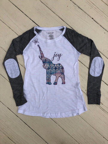 Chasing JOY Raglan with Elbow Patches