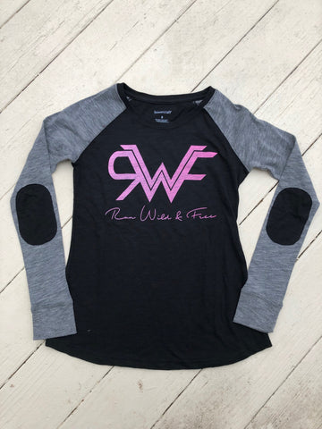 Run Wild & Free Raglan with Elbow Patches