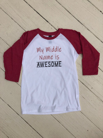 AWESOME 3/4 Raglan Shirt (Kids)