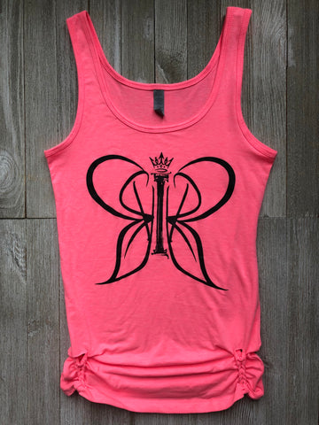 Butterfly Logo U-back Tank Hand Braided At Bottom Sides
