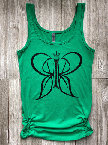 Butterfly Logo U-Back Hand Braided At Bottom Sides