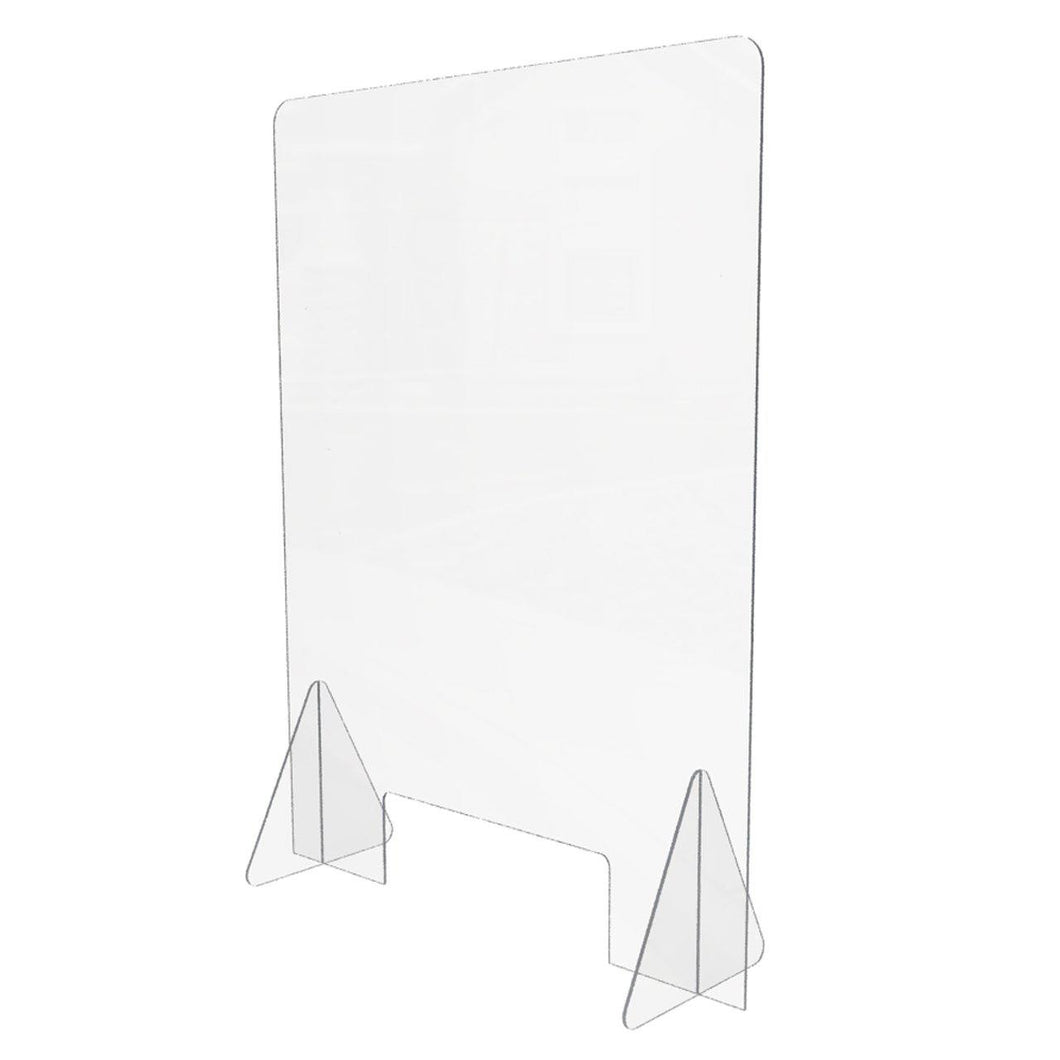 24 x 32H Freestanding Sneeze Guard with Small Cutout
