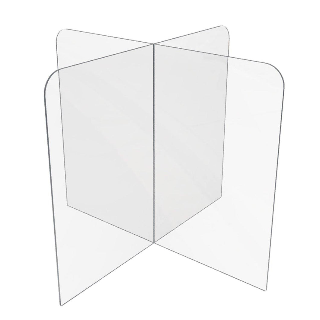 30W x 30D x 24H Freestanding Sneeze Guard Table Divider
