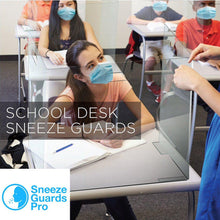 Load image into Gallery viewer, Folding Portable Sneeze Guard for Desks, Classrooms