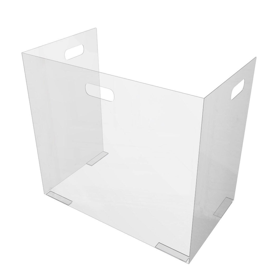 Folding Portable Sneeze Guard for Desks, Classrooms