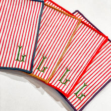 Load image into Gallery viewer, Striped Cocktail Napkins