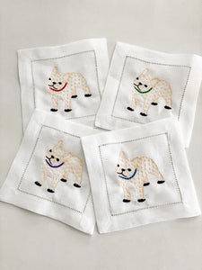 French Bulldog Cocktail Napkins