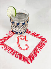 Load image into Gallery viewer, Fringed Cocktail Napkins