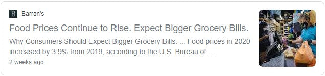 Food Prices Increasing - Expect Bigger Grocery Bills