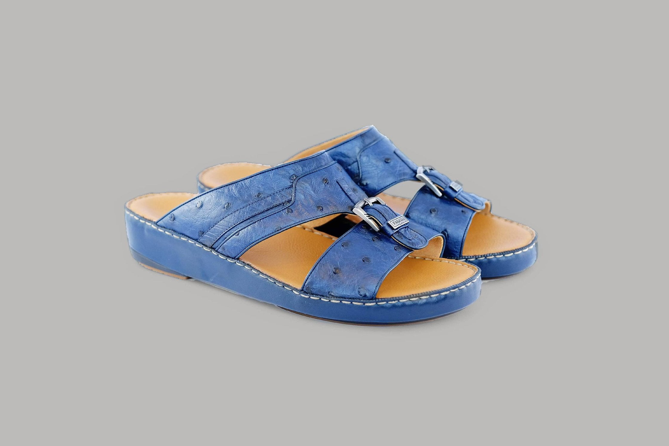 Carpino Struzzo Navy Arabic Sandals (3988OST)