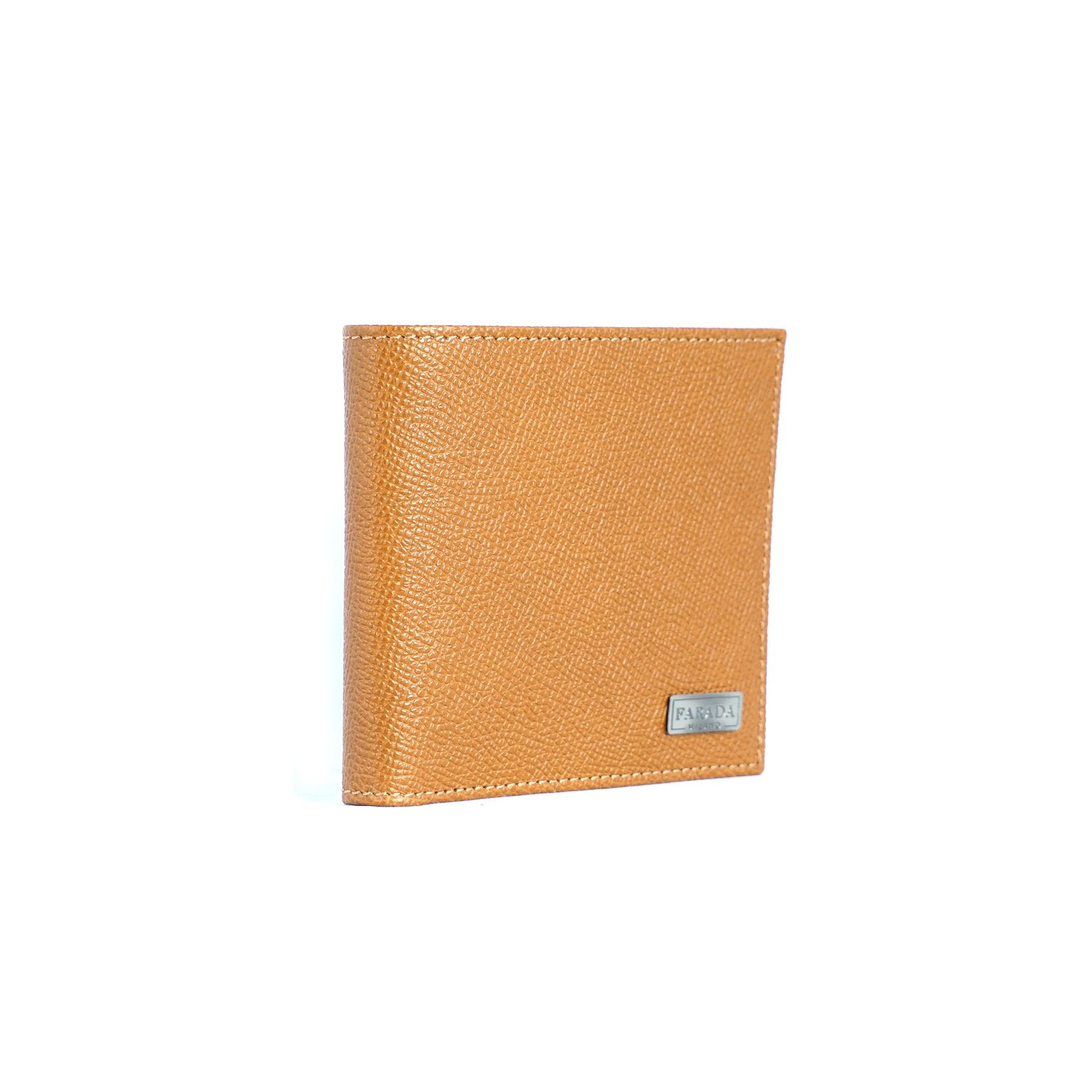 Tan Olive Two Tone Saffiano Bifold Wallet
