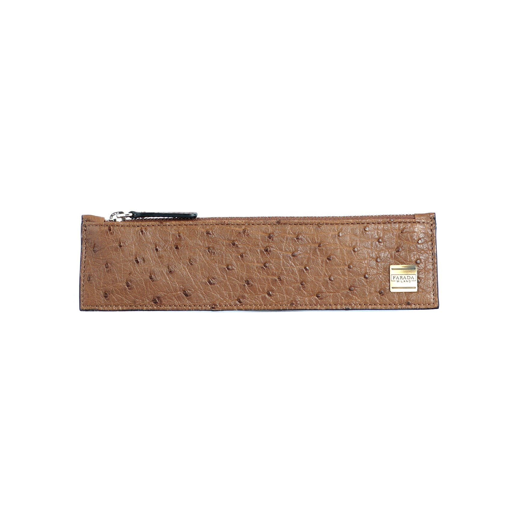 Brown Ostrich Pipe Case (1036M)