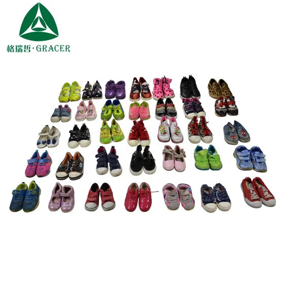 BALES OF CHILDREN'S SHOES GRADE B