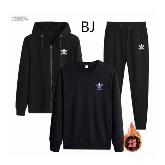ADIDAS JACKET PLUS VELVET ROUND NECK SWEATER