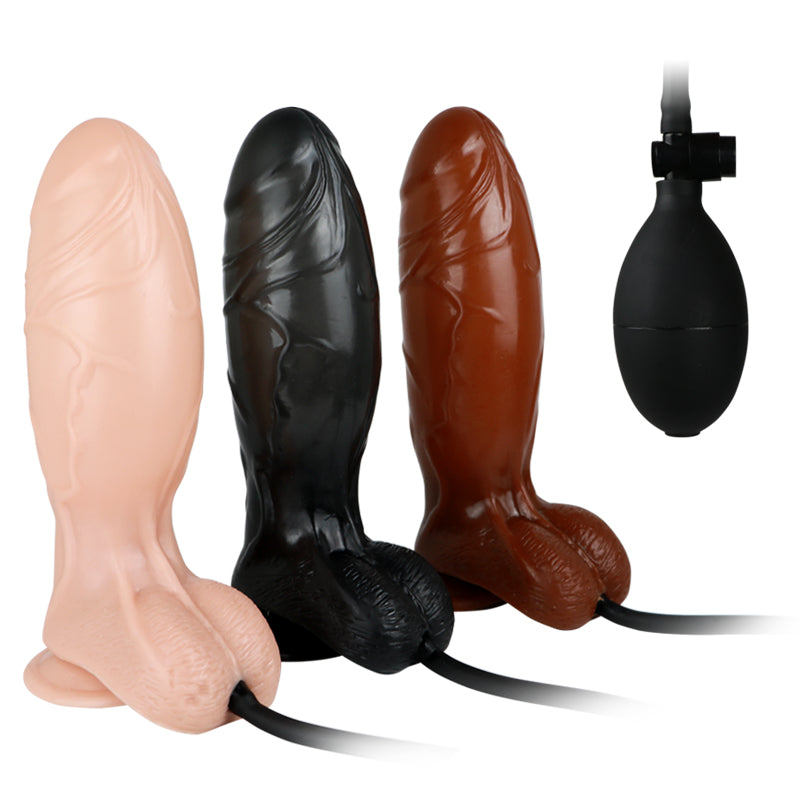 Massager Inflatable Waterproof Dildos - sex toy wholesale