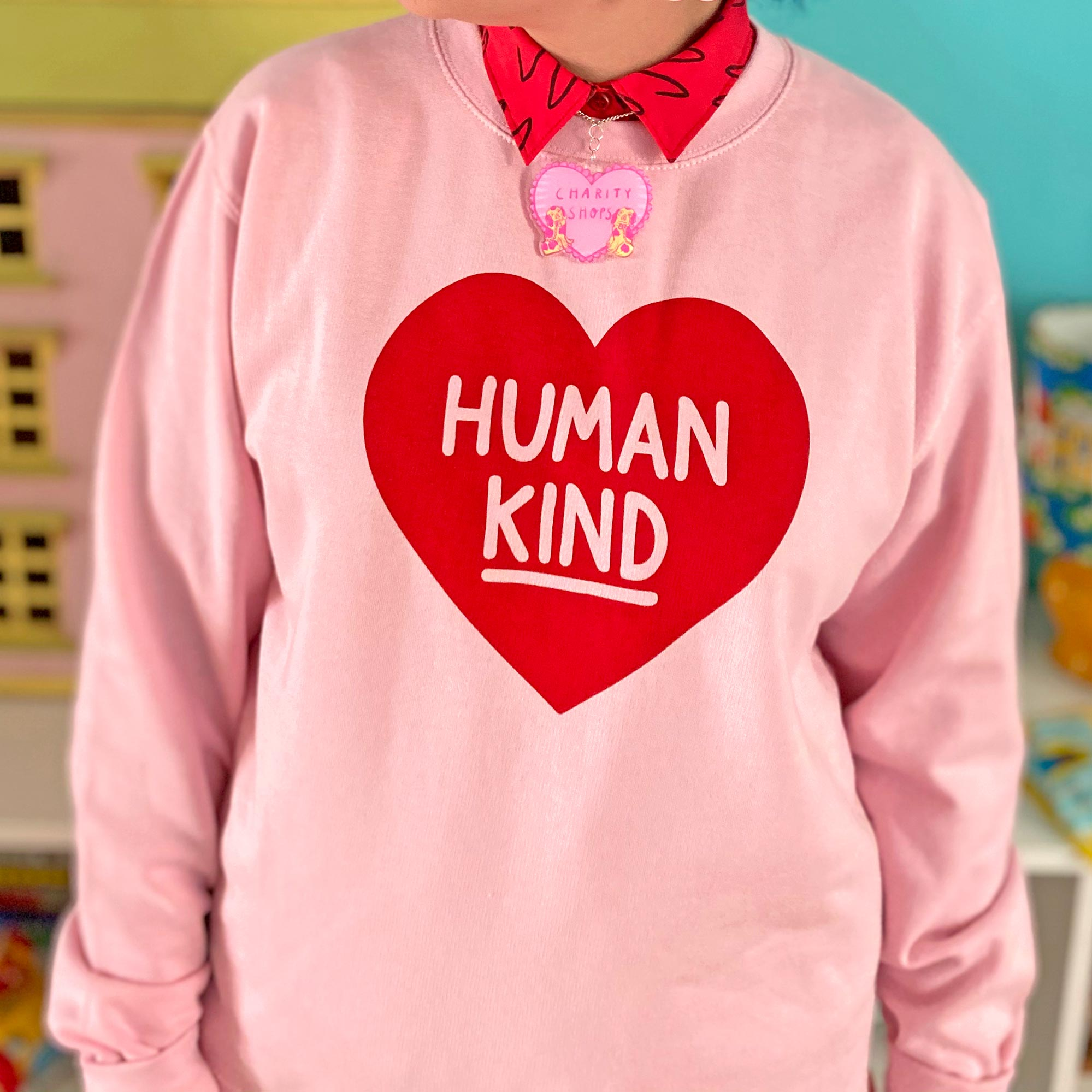 Human Kind Large Print Unisex Sweatshirt