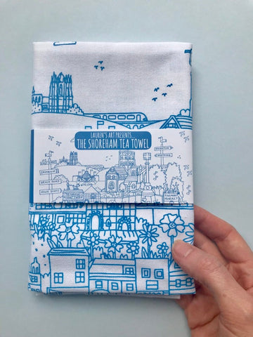 Screen Printed Shoreham Tea Towel