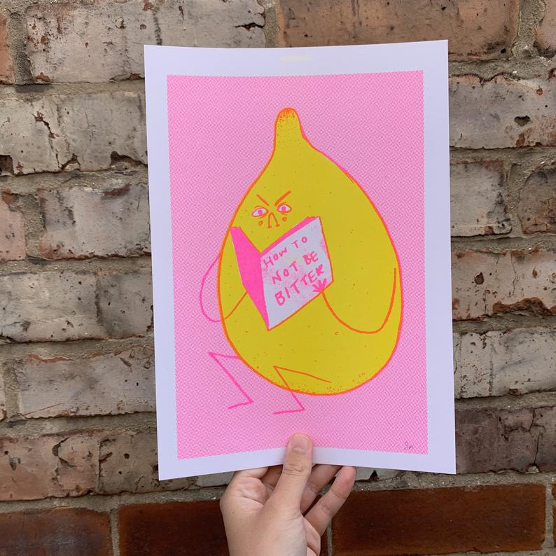Bitter Lemon SUMMER NEON EDITION A4 Print