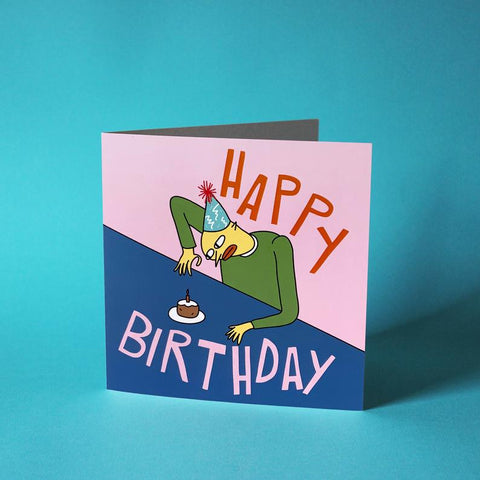 Lonely Birthday - Card - character small cake