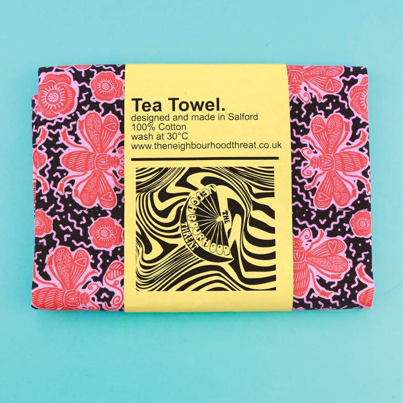Black Bee Tea Towel