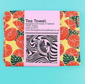 Citrusy Yellow Tea Towel