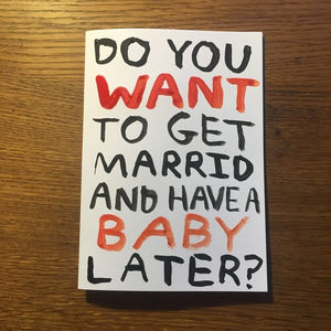 Married and Have a Baby Card