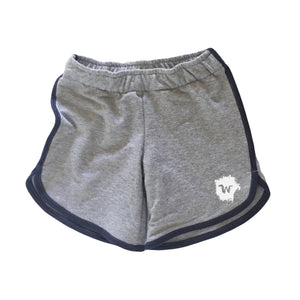 Varsity Shorts Gray - Wildly Co.
