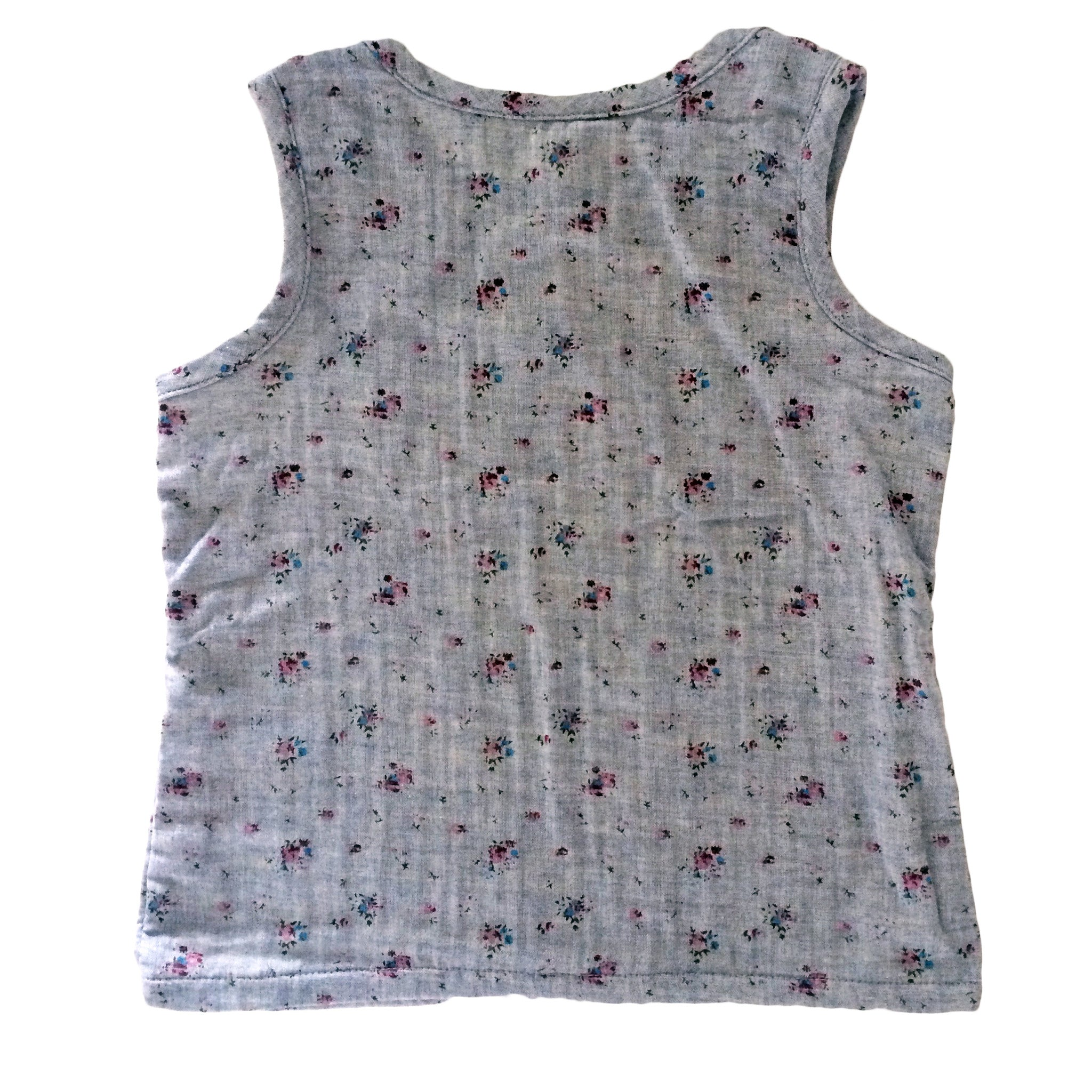 Ditsy Flowers Woven Tank Top