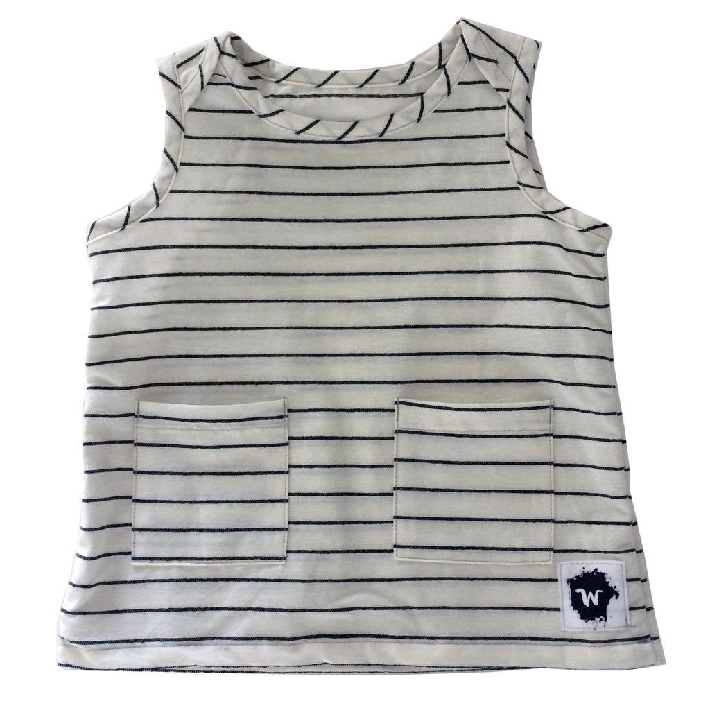 Stripes Woven Tank Top - Wildly Co.
