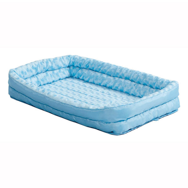 MidWest - QuietTime Double Bolster Pet Bed (Blue)