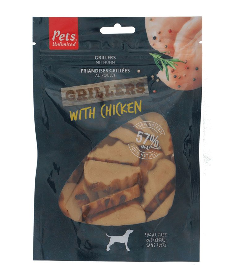 Pets Unlimited - Grillers with Chicken (100g)