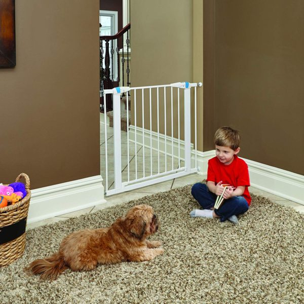 MidWest - White Glow in the Dark Steel Pet Gate